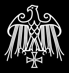 geraldic eagle and iron cross vector image