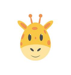 giraffe kids cartoon vector image