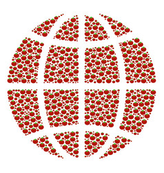 Globe composition of tomato vector