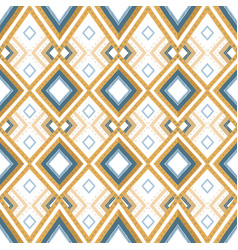 Hand drawn golden ethnic seamless pattern vector