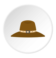 Hat icon circle vector