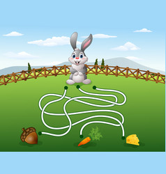 help the rabbit to find the carrot vector image