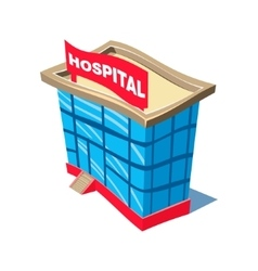 Hospital and ambulance building vector