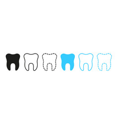 icon tooth logo for dentist clinic graphic vector image
