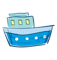 Image blue boat or color vector