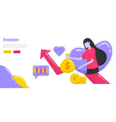 investors investing money and assets to grow vector image