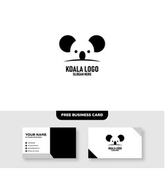 Koala logo template free business card vector