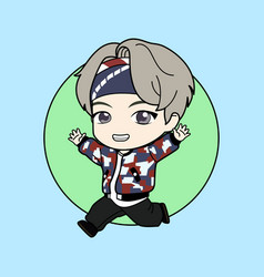 Kpop boy 5 vector