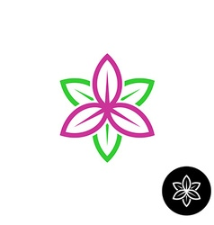 Leaves flower logo vector image