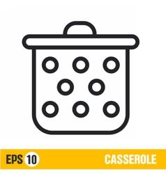line icon casserole vector image