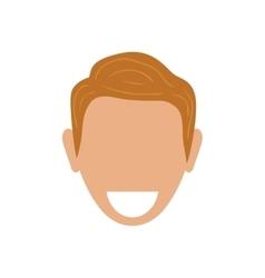 Man faceless smiling vector image