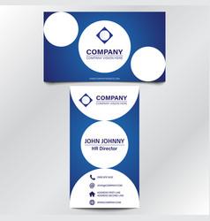 modern professional blue curve business card vector image