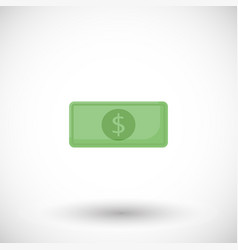 money dollar flat icon vector image