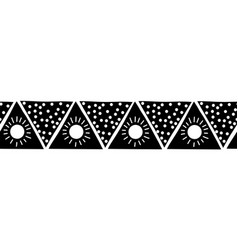 monochrome seamless border triangles boho vector image