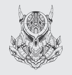 Monster predator black and white art vector