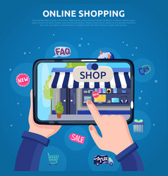 Online shopping poster vector