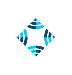 ornamental diamond logo template design eps 10 vector image