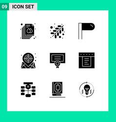 Pack 9 creative solid glyphs dropdown vector