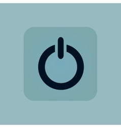 Pale blue power icon vector