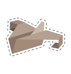 Paper plane start up symbol cut line vector