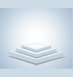 Podium or pedestal light concept vector