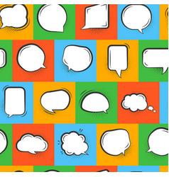 Pop art comic speech buble seamless pattern vector