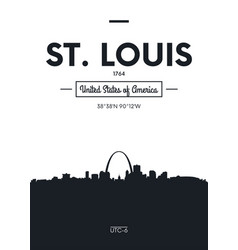 Poster city skyline st louis flat style vector