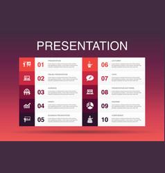Presentation infographic 10 option template vector