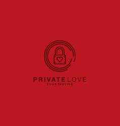 private love logo design template vector image