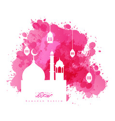 ramadan kareem islamic watercolor background vector image