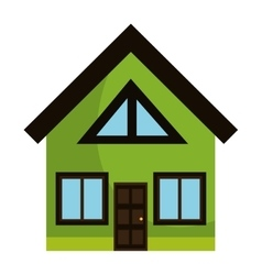 Real estate house graphic design vector image