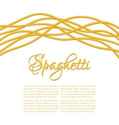 Realistic Twisted Spaghetti Pasta vector