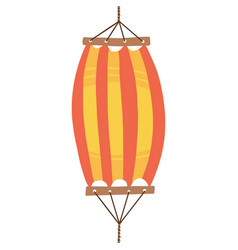 red orange hammock icon flat cartoon red vector image