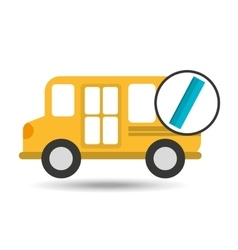 School bus ruler icon graphic vector