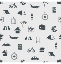 seamless travel pattern vector image