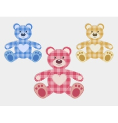 Set of color teddy bear vector image