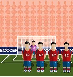 South Korea Soccer Club Penalty on Stadium vector