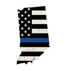 State indiana police support flag vector