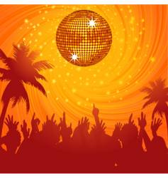 summer disco party vector image