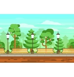 Summer garden landscape poster vector
