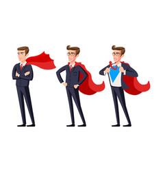 super businessman men cartoon vector image