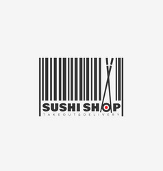 Sushi shop logo vector