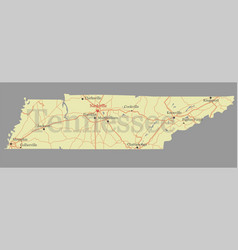 tennessee state map with community assistance and vector image