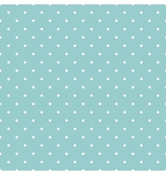 Tile white polka dots on blue background vector