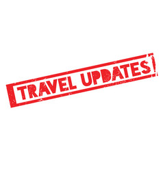 Travel updates rubber stamp vector