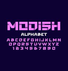 trendy style alphabet vector image