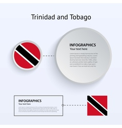 Trinidad and Tobago Country Set of Banners vector