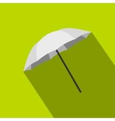 Umbrella photographer icon flat style vector