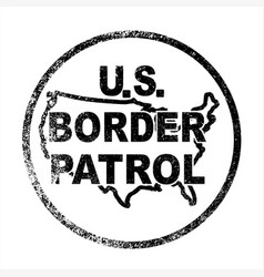 United states border control stamp vector