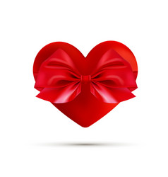 valentines day greeting card realistic 3d red vector image